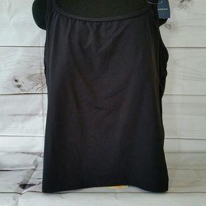Women's Plus Size Scoopneck Tankini Top